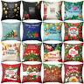 HD_ AU_ ALS_ KD_ Colorful Christmas Throw Pillow Case Waist Cushion Cover Sofa H