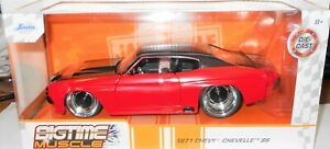 NEW 2021 Jada Big Time Muscle  *1971 CHEVY CHEVELLE SS*  Red & Black  1:24 Scale
