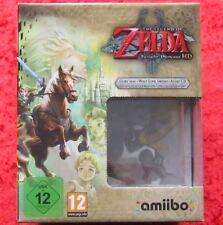 Zelda Twilight Princess HD Edition + Amiibo Wolf Link, Nintendo WiiU Spiel, Neu
