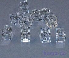 Lego - 10 x convertidor piedra 1x1 transparente-claro/convertidor piedra 4070 mercancía nueva