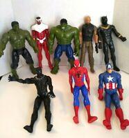 "Marvel 12"" Inch Action Figures (LOT of 8) Hasbro Super Heroes Hulk Spiderman"
