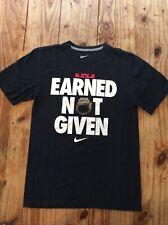 Nike Lebron James Earned Not Given Miami Heat NBA Champions Shirt Black S