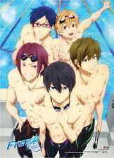 Free! - Iwatobi Swim Club Key Art Group Wall Scroll Poster Anime Manga NEW
