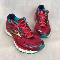 Brooks Womens Adrenaline GTS 15 Running Shoes Pink 1201741B679 Low Top Mesh 6 B