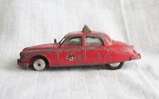 RARE CORGI TOYS # 213 JAGUAR FIRE CHIEF'S CAR ORIGINAL DIECAST RED 1960-61