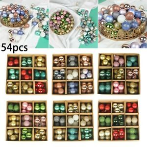 54X Christmas Tree Ball Ornament Baubles Birthday Party Wedding Decorations