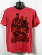 MARVEL Mens Avengers Age of Ultron Super Heros Red T-Shirt Size Large NWT
