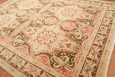 "9'4"" x 12'6"" Hand Knotted Authentic Turkish Oushak Wool Oriental Area Rug Beige"