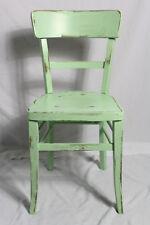 Holzstuhl/Stuhl/Küchenstuhl grün 40er Jahre Vintage Shabby-Chic Landhaus