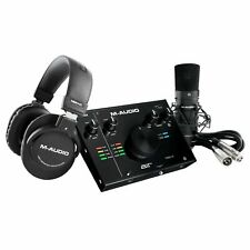 M-Audio Air 192 | 4 Pro Home Recording Interface Pack w Microphone & Headphones