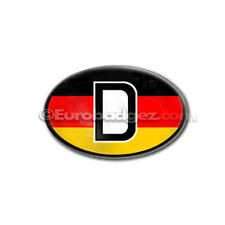 "1 - New Euro Badge Emblem German Germany Country Black Red Yellow Flag Oval ""D"""
