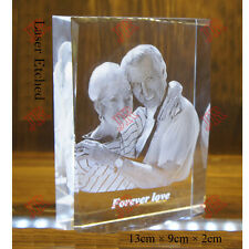 DIY Personalised Photo Frame Wedding Birthday Gift Laser Etched Crystal Glass