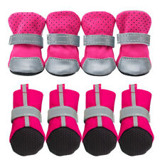 4pcs Pet Dog Shoes Small Mesh Boots Booties for Snow Rain Reflective Anti-slip