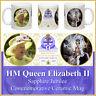HM Reina Elizabeth II Sapphire ANIVERSARIO Conmemorativa 284ml Taza