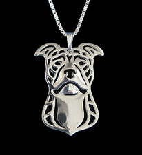 Pit Bull Terrier Silver Charm Pendant Necklace, Dog Lover, Friend Gift