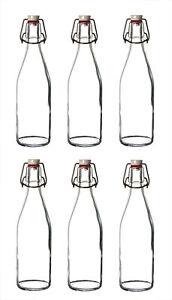 DETI Glasbügelflasche 500ml Glasflasche Flasche Trinkflasche Bügelflasche Glas