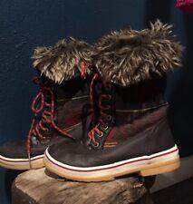 Celebrity Pink Glacier Brown Faux Fur Winter Boots 7 M