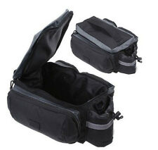 Black Bicycle Rear Seat Trunk Bag Shoulder Handbag Bag Pannier Multi-functional