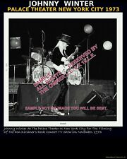 JOHNNY WINTER Palace Theater 1973 Don Kirshners Rock Concert TV show photo