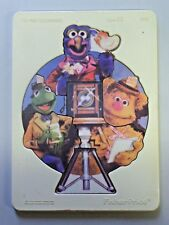 Vintage Fisher Price Muppets Plastic & Wood Tray Frame Puzzle THE PHOTOGRAPHERS