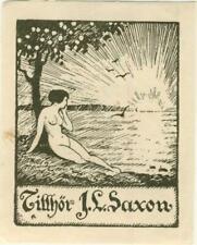 Ex libris ART DECO Erotic Exlibris by Unidentified artist / Europe