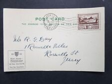 Jersey 1943 Blampied 1 1/2d View FDC cancelled machine cancel plus h/s