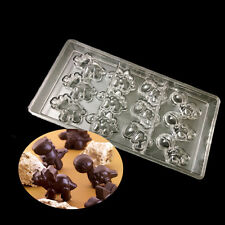 DIY Plastic 4 kinds of Dinosaurs Monster PC Polycarbonate Chocolate Mold Mould
