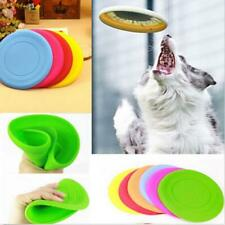 1X Silicone Pet Dog Flying Saucer Disc Toy Gift for Exercise Training Tools AU