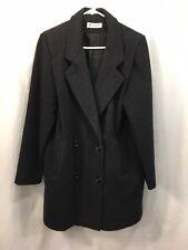 VTG Forecaster Of Boston Pea Coat Jacket Womens 13/14 Gray Wool Blend USA
