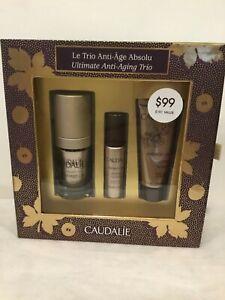 Caudalie ultimate anti- aging trio Eye cream, Serum and Cream New in box!