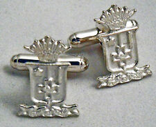 Sigma Phi Epsilon, ΣΦΕ, Crest Cufflinks In .925 Sterling Silver By McCartney