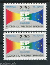 FRANCE  1989, VARIETE de couleur timbre 2572, LILAS au lieu de BLEU, neufs**