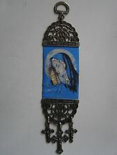 8'' Woven Wall Hanging Tapestry Mary Madonna Icon Crucifix Cross