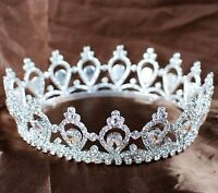 Queen Princess Tiara Crown Rhinestone Wedding Bridal Headband Pageant Party Prom