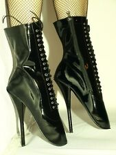 """BLACK OR RED PATENT LEATHER HIGH BOOTS SIZE 9-16 HEELS-8,4""""- BALLET- POLAND"""