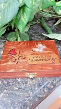 """Never Stop Dreaming"""" Essential Oil Box, Oil Safe, Wooden Box, Trinket Box"""