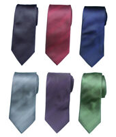 """Extra Long Tie Microfiber Solid Woven XL Necktie 63"""" Black/red/blue/green/gray"""