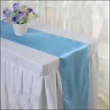 10 TABLE RUNNER SATIN WEDDING EVENT RUNNER SASH COVER CHAIR RED  BLUE PURPLE
