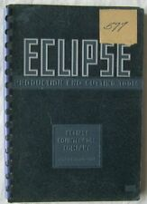 Eclipse Production End Cutting Tools Catalog 1948