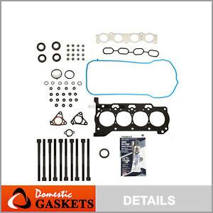 Fits 09-16 Toyota Corolla Matrix Scion xD Pontiac 1.8 Head Gasket Set Bolt 2ZRFE