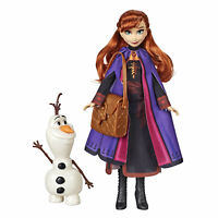 Disney Frozen 2 Anna Doll With Buildable Olaf Figure and Backpack Accessory