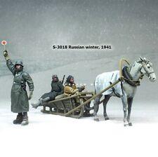 1:35 German Infantry Winter World War 2 (WW2) 3 Figures & Horse Resin Model Kit