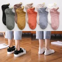 4Pairs Kawaii Cute Women Heart Pattern Soft Breathable Ankle Casual Cotton Socks