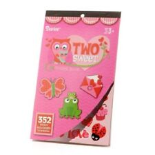 """1 """"Two Sweet"""" Valentine Sticker Book: 352 Stickers 6 sheets Butterfly Heart frog"""