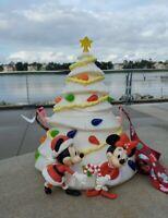 New 2020 Disney Parks White CHRISTMAS TREE Mickey Minnie Holiday Popcorn Bucket