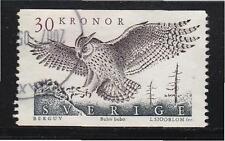 SWEDEN 1989 EAGLE OWL 30 SEK HIGH VALUE 1 STAMP SC#1761 IN FINE USED CONDITION