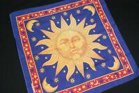 Vintage Sunflower Hippie Astrology Bandana USA Made Face Mask Cover Blue