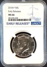 2018 P Kennedy Half Dollar certified Early Releases, MS 66 by PCGS!