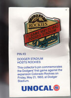 VINTAGE L.A. DODGERS UNOCAL PIN (UNUSED) - 1ST GAME MAY 21 1993 DODGER STADIUM