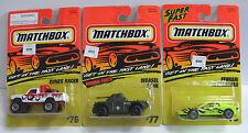 1995/96 - Matchbox 76 Dunes Racer-77 Weasel Tank-78 Ferrari